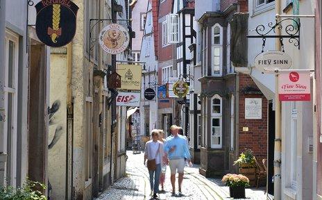 Der Schnoor ist Bremens ältestes Viertel