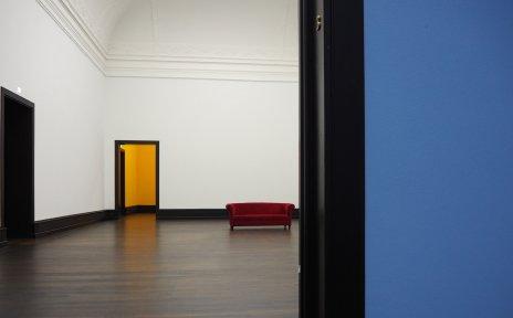 Zu sehen ist ein leerer Ausstellungsraum in der Kunsthalle Bremen