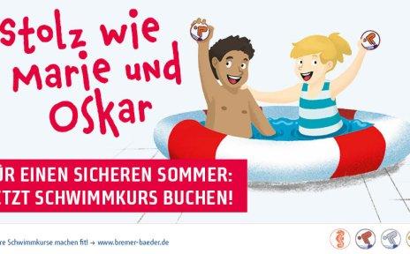 Werbung Bremer Bäder: Schwimmkurse