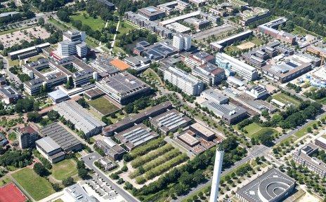 Luftaufnahme des Technologieparks.