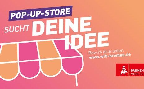 Grafik zum Pop-Up-Store Wettbewerb des Aktionsprogramms Innenstadt