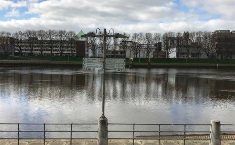 Hinweisschilder zu Radwegen in Bremen
