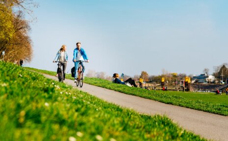 Bremen Bike It - Deich im Frühling