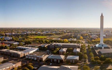 Blick auf den Technologiepark an der Universität Bremen aus der Vogelperspektive