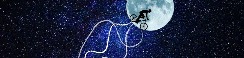 Mond im Weltall