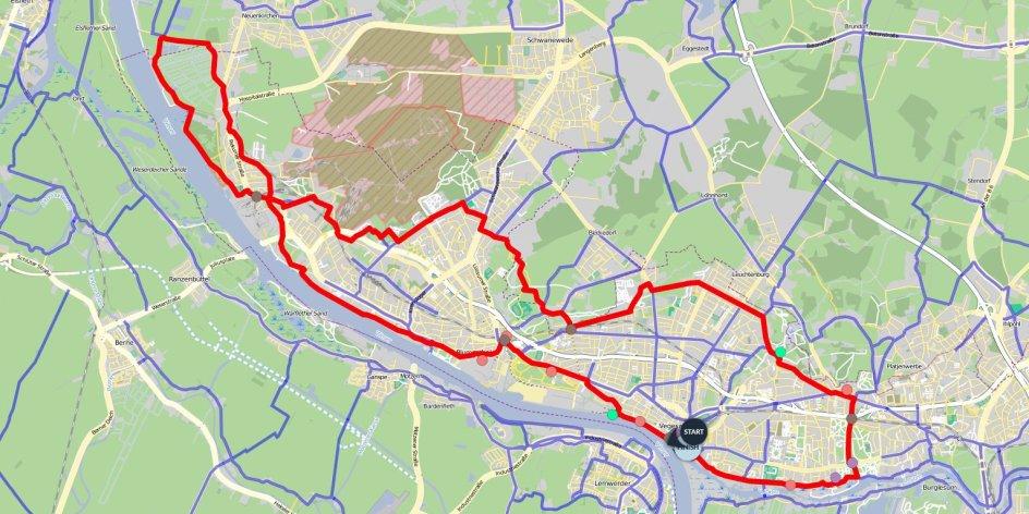 bremen nord karte Bremer Norden Runde