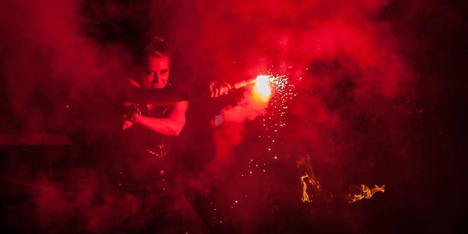 7. Hemelinger Lichterfest Feuershow meets Salsa