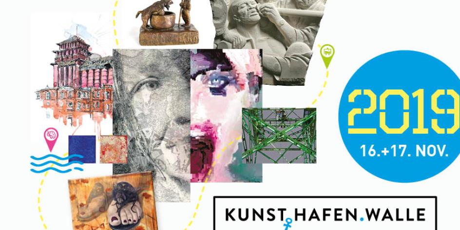 Ausstellung aller teilnehmender Künstler (Kunst.Hafen.Walle)