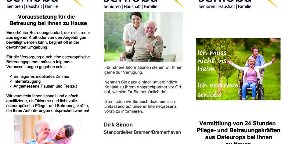 Senioba Agentur Bremen -24h Betreuung und Pflege mit Herz-