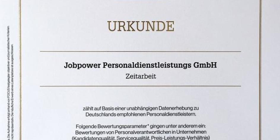 Jobpower Personaldienstleistungs GmbH