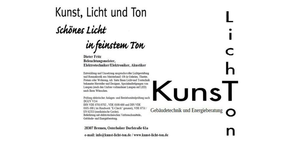 Kunst, Licht und Ton/ Gebäudetechnik und Energieberatung Dieter Fritz