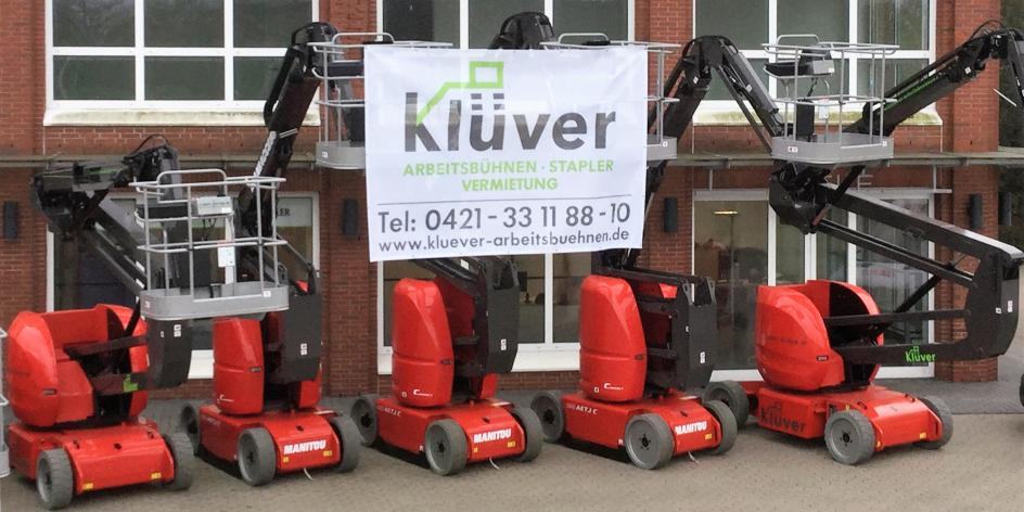 Klüver GmbH • Arbeitsbühnen- und Staplervermietung