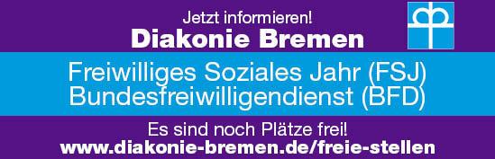 Angebot: Bundesfreiwilligendienst (BFD) bei der Diakonie Bremen