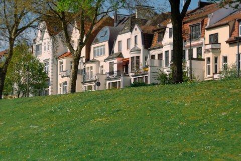Häuserfront am Osterdeich