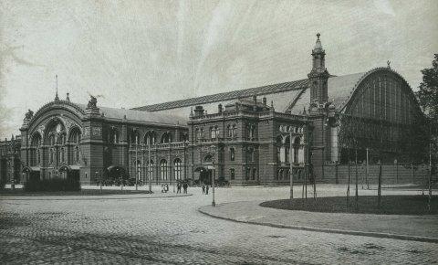 Der Bremer Hauptbahnhof im Jahr 1895; Quelle: Staatsarchiv Bremen