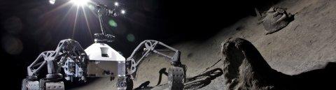 Ein Roboter auf dem Mond
