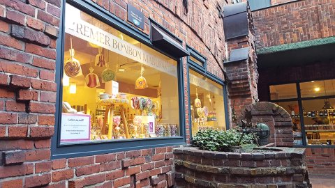 Bremer Bonbon Manufaktur in der Böttcherstraße