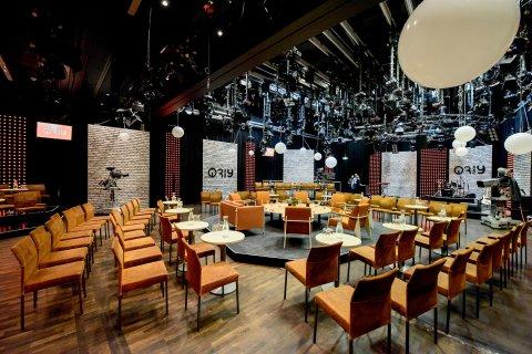 Blick in das Studio von 3 nach 9 mit Sitzgruppe in der Mitte
