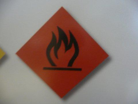Gefahrenschild Feuer