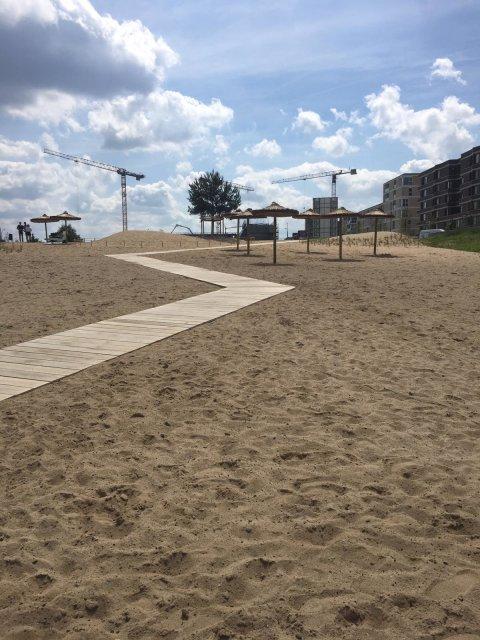 Zu sehen ist der Strand des Waller Sands.