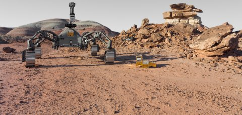 Roboter in der Wüste von Utah