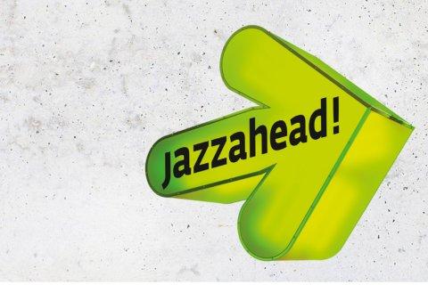 Das Logo der Jazzahead - ein grüner Pfeil.