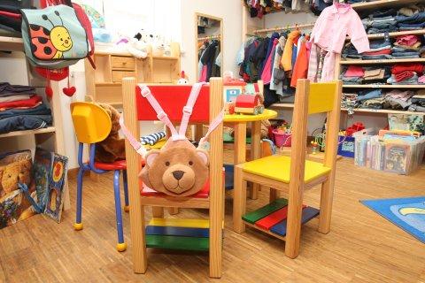 Kinderbekleidung im Geschaeft Klamöttchen
