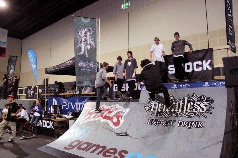 Skater auf einer Rampe auf der Passion in Bremen