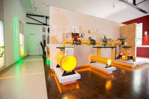 Eine Innenaufnahme des Technikmuseums der swb