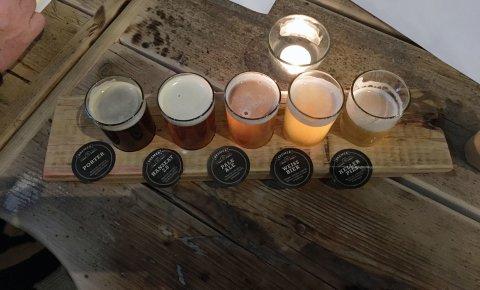 Ein Foto von verschiedenen Biersorten in Gläsern nebeneinander.