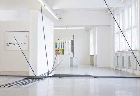 Ausstellungsansicht Im Inneren der Stadt. Öffentlicher Raum und Frei-Raum, GAK Gesellschaft für Aktuelle Kunst, 2015, Foto: Tim Klausing