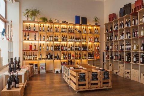 Innenansicht des Findorffer Weinladen