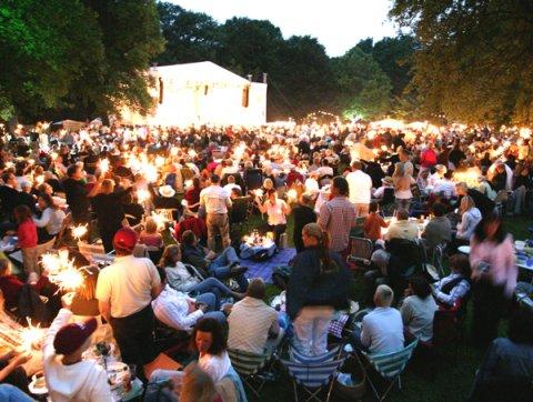 Abendstimmung beim Sommer in Lesmona
