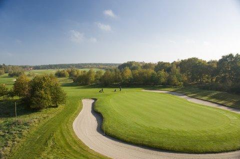 Die Golfanlage in Achim aus der Vogelperspektive