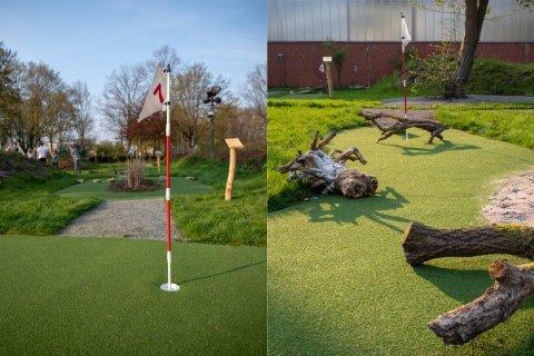Die Anlage des Adventure Golfs in Bremen.