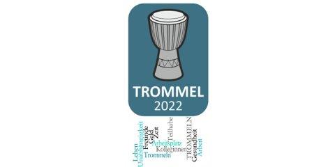 """Logo mit Schriftzug: """"Trommel 2022"""""""