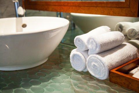 Badezimmer im Hotel