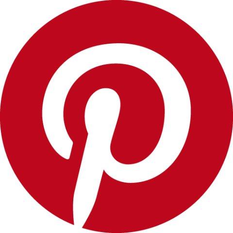 Das rotweiße Logo von Pinterest