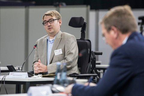 Arne Frankenstein, Der Landesbehindertenbeauftragte der Freien Hansestadt Bremen, beim Behindertenparlament EXTRA am 20. November 2020.
