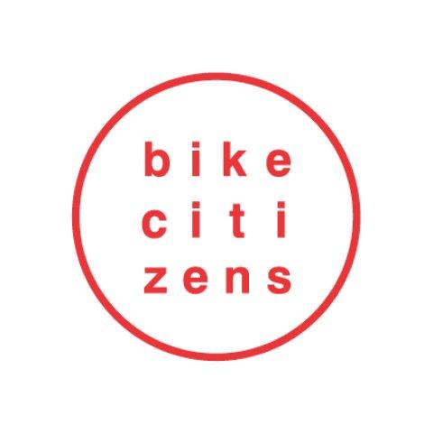 Bike Cititzens Logo mit dem Schriftzug Bike Citzens in roter Schrift