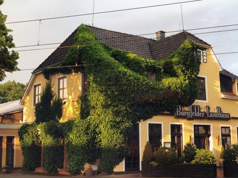Das Borgfelder Landhaus von außen.