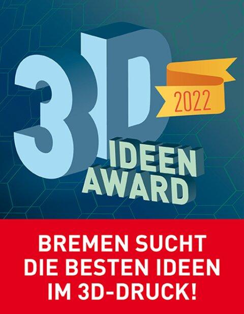Ein Werbebanner für den Bre3D-Award Bremen