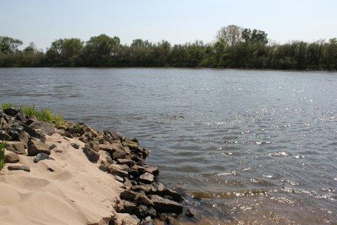 Sonne und Sand an der Weser