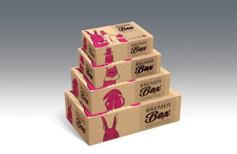 Die Bremer Box in verschiedenen Größen.