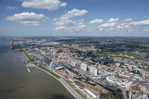 Luftaufnahme von Bremerhaven