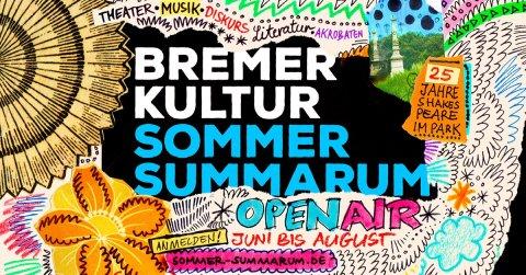 Plakat für den Bremer Kultursommer Summarum mit bunten Illustrationen