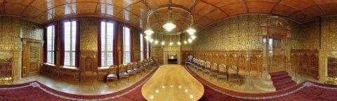 Blick in die Güldenkammer des Bremer Rathauses, UNESCO_Welterbestätte