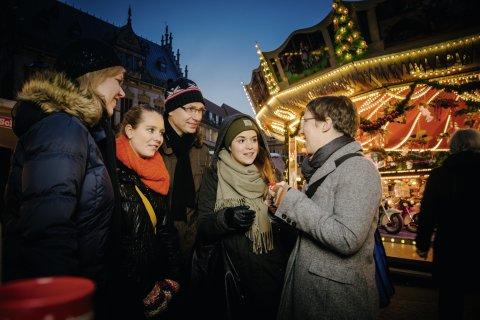 Gruppe auf dem Bremer Weihanchtsmarkt