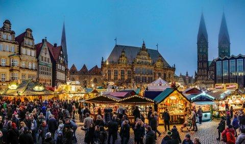 Weihnachtsmarkt auf dem Bremer Marktplatz