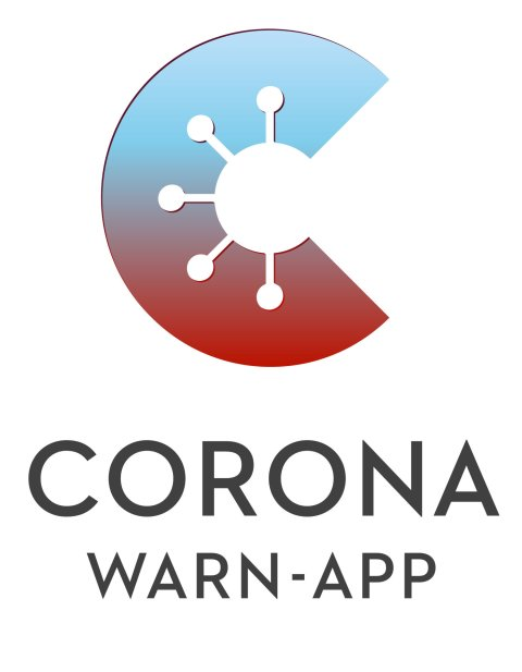 Das stilisierte C symbolisiert die Corona Warn App